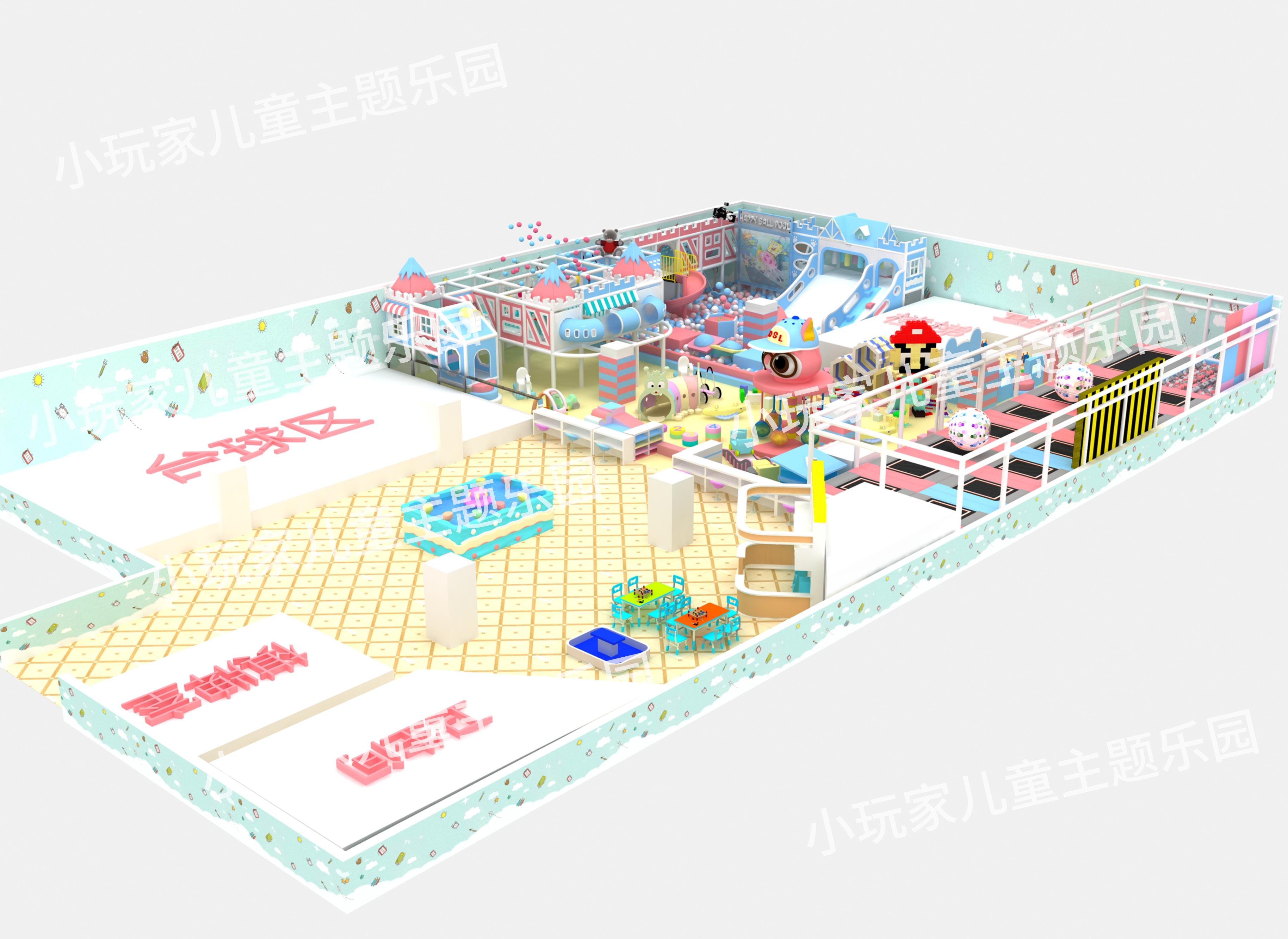 室内淘气堡模型图