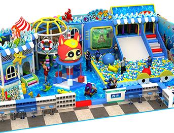 海洋风主题儿童淘气堡乐园