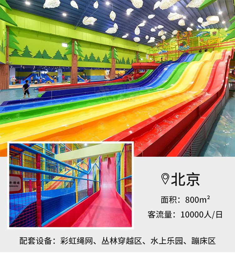 北京七彩螺旋室内大型塑料滑梯案例展示