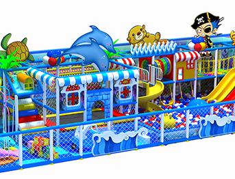 超市海洋主题儿童淘气堡乐园